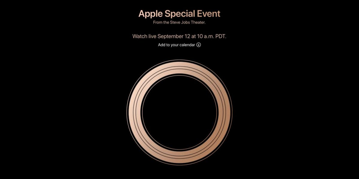 apple confirms september 12th as its iphone xs and. Black Bedroom Furniture Sets. Home Design Ideas