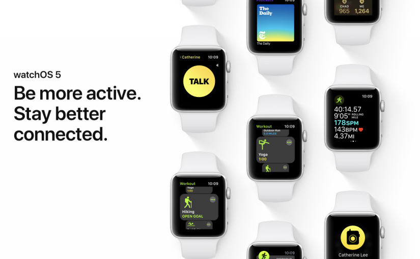 Apple released watchOS 5.0.1 with various bug fixes
