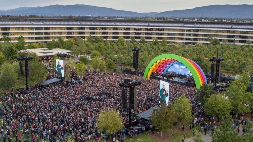 Apple Park Celebrates Rainbow-Themed Event on May 17