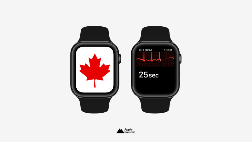 Health Canada Approves ECG and Irregular Rhythm Notifications for Apple Watch Series4