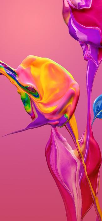 Huawei-P30-Pro-Stock-Wallpaper-Pink-iPhone-X-Xr-Xs-Max