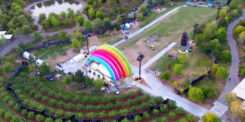 Rainbow Stage Pops Up In Middle of Apple Park