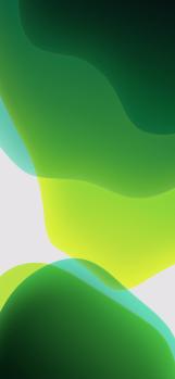 iOS-13-stock-wallpaper-green-light-XS